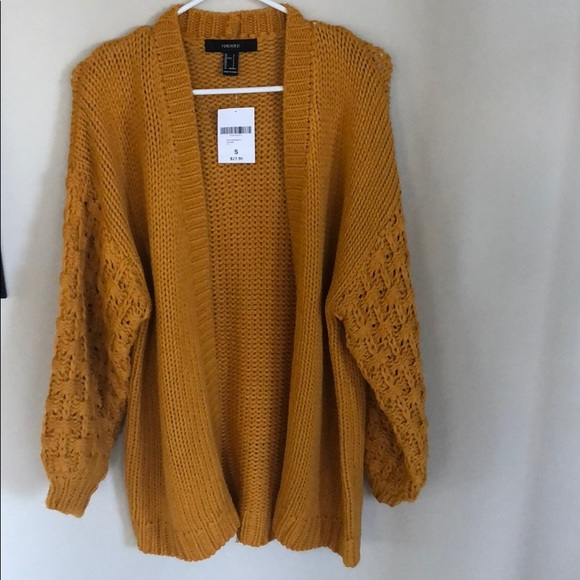 Forever 21 Sweaters - Forever 21 Gold Cardigan